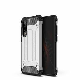 Ntech Ntech Huawei P30 Dual layer Armor Hoesje - Zilver
