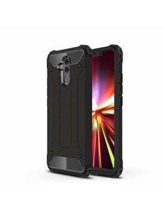 Ntech Ntech Huawei Mate 20 Lite Dual layer Armor Hoesje - Zwart