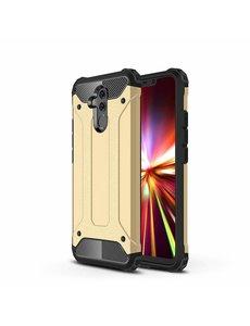 Ntech Ntech Huawei Mate 20 Lite Dual layer Armor Hoesje - Goud