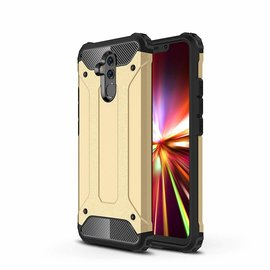 Ntech Ntech Huawei Mate 20 Lite Dual layer Rugged Armor hoesje /  Hard PC & TPU Hybrid case - Goud