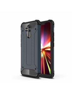 Ntech Ntech Huawei Mate 20 Lite Dual layer Armor Hoesje - Blauw