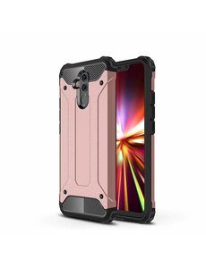 Ntech Ntech Huawei Mate 20 Lite Dual layer Armor Hoesje - Rose Goud