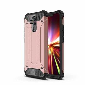 Ntech Ntech Huawei Mate 20 Lite Dual layer Rugged Armor hoesje /  Hard PC & TPU Hybrid case - Rose Goud