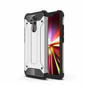 Ntech Ntech Huawei Mate 20 Lite Dual layer Rugged Armor hoesje /  Hard PC & TPU Hybrid case - Zilver