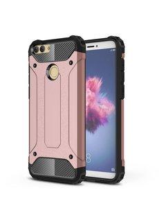 Ntech Ntech Huawei P Smart (2018) Dual layer Armor Hoesje - Rose Goud