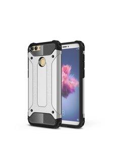 Ntech Ntech Huawei P Smart Plus (2018) Dual layer Armor Hoesje - Zilver