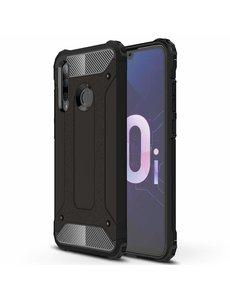 Ntech Ntech Huawei P Smart Plus (2018) Dual layer Armor Hoesje - Zwart