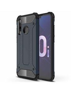 Ntech Ntech Huawei P Smart Plus (2018) Dual layer Armor Hoesje - Blauw