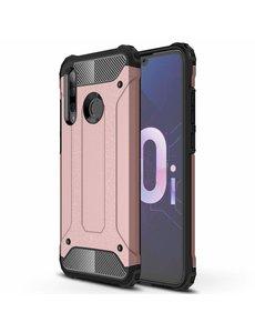 Ntech Ntech Huawei P Smart Plus (2018) Dual layer Armor Hoesje - Rose Goud