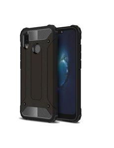 Ntech Ntech Huawei P20 Lite (2018) Dual layer Armor Hoesje - Zwart
