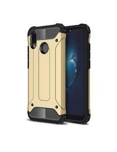 Ntech Ntech Huawei P20 Lite (2018) Dual layer Armor Hoesje - Goud