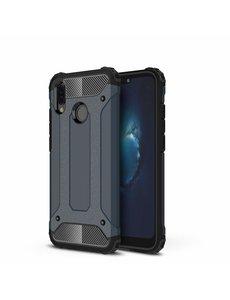Ntech Ntech Huawei P20 Lite (2018) Dual layer Armor Hoesje - Blauw