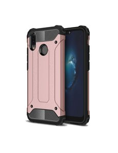 Ntech Ntech Huawei P20 Lite (2018) Dual layer Armor Hoesje - Rose Goud