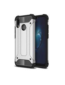 Ntech Ntech Huawei P20 Lite (2018) Dual layer Armor Hoesje - Zilver