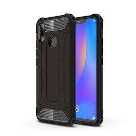 Ntech Ntech Huawei P smart 2019 Dual layer Rugged Armor hoesje /  Hard PC & TPU Hybrid case - Zwart