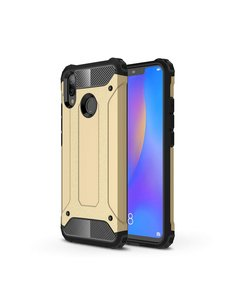 Ntech Ntech Huawei P Smart 2019 Dual layer Armor Hoesje - Goud