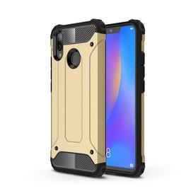 Ntech Ntech Huawei P smart 2019 Dual layer Rugged Armor hoesje /  Hard PC & TPU Hybrid case - Goud