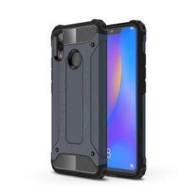 Ntech Ntech Huawei P smart 2019 Dual layer Rugged Armor hoesje /  Hard PC & TPU Hybrid case - Blauw