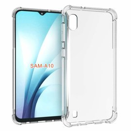 Ntech Ntech Samsung Galaxy A10 Transparant Anti Burst Hoesje / Shock Proof Crystal Clear TPU Case