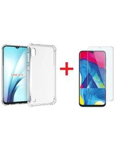 Ntech Ntech Samsung Galaxy A10 Anti Shock Hoesje + Glazen Screenprotector