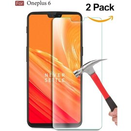 Merkloos 2 Pack - OnePlus 6 (2018) Screen Protector / Beschermglas Tempered Glass Screen