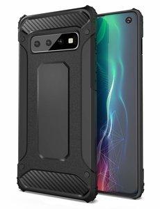 Ntech Ntech Samsung Galaxy S10e Dual layer Armor Hoesje - Zwart
