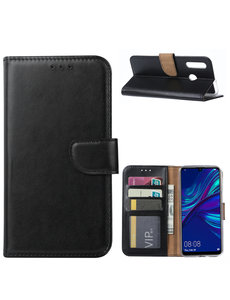 Ntech Ntech Huawei P Smart Plus (2019) Portemonnee Hoesje / Book Case - Zwart