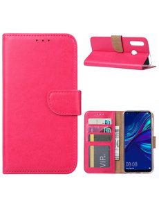 Ntech Ntech Huawei P Smart Plus (2019) Portemonnee Hoesje / Book Case - Pink/Roze