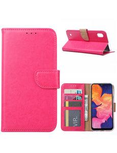 Ntech Ntech Samsung Galaxy A10 Portemonnee Hoesje / Book Case - Pink/Roze