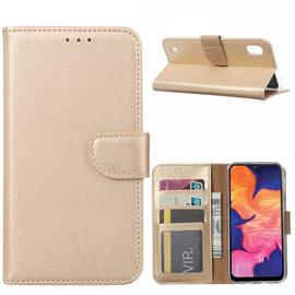 Ntech Ntech Samsung Galaxy A10 Portemonnee Hoesje / Book Case - Goud
