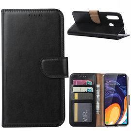 Ntech Ntech Samsung Galaxy A60 Portemonnee Hoesje / Book Case - Zwart