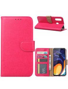 Ntech Ntech Samsung Galaxy A60 Portemonnee Hoesje / Book Case - Pink/Roze