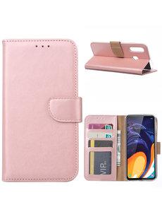 Ntech Ntech Samsung Galaxy A60 Portemonnee Hoesje / Book Case - Rose Goud