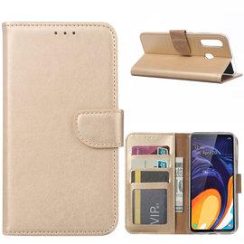 Ntech Ntech Samsung Galaxy A60 Portemonnee Hoesje / Book Case - Goud