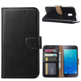 Ntech Ntech Samsung Galaxy J2 Core Portemonnee Hoesje / Book Case - Zwart