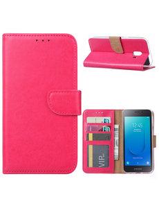Ntech Ntech Samsung Galaxy J2 Core Portemonnee Hoesje / Book Case - Roze/Pink