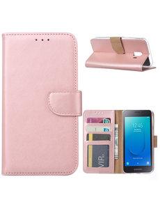 Ntech Ntech Samsung Galaxy J2 Core Portemonnee Hoesje / Book Case - Rose Goud