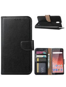 Ntech Ntech Nokia 1 Plus Portemonnee Hoesje / Book Case - Zwart