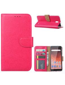 Ntech Ntech Nokia 1 Plus Portemonnee Hoesje / Book Case - Roze/Pink