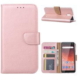 Ntech Ntech Nokia 1 Plus Portemonnee Hoesje / Book Case - Rose Goud