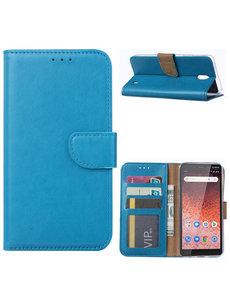Ntech Ntech Nokia 1 Plus Portemonnee Hoesje / Book Case - Turquoise