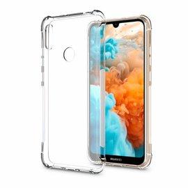 Ntech Ntech Huawei Y6 (2019) Transparant Anti Burst Hoesje / Shock Proof Crystal Clear TPU Case