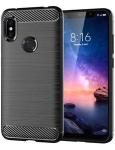 Ntech Ntech Soft Brushed TPU Hoesje voor Xiaomi Mi A2 Lite - Matt Zwart