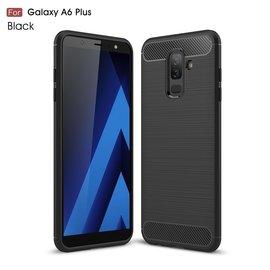 Ntech Ntech Soft Brushed / Geborsteld Hoesje voor Samsung Galaxy A6+ (2018) - Matt Zwart