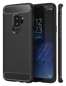 Ntech Ntech Soft Brushed TPU Hoesje voor Samsung Galaxy S9+ (Plus) - Matt Zwart