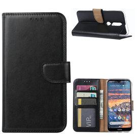 Ntech Ntech Nokia 4.2 Portemonnee Hoesje / Book Case - Zwart