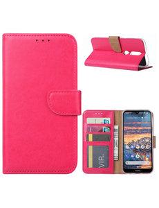 Ntech Ntech Nokia 4.2 Portemonnee Hoesje / Book Case - Pink/Roze