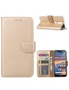 Ntech Ntech Nokia 4.2 Portemonnee Hoesje / Book Case - Goud