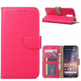 Ntech Ntech Nokia 3.2 Portemonnee Hoesje / Book Case - Pink/Roze