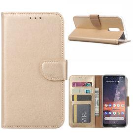 Ntech Ntech Nokia 3.2 Portemonnee Hoesje / Book Case - Goud